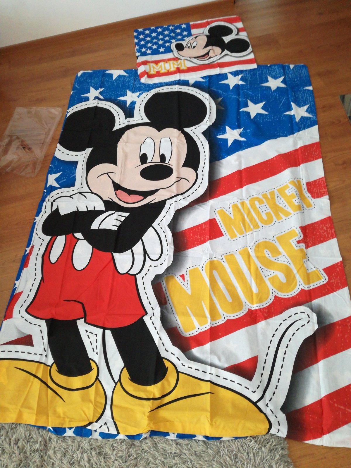 Mickey Mouse obliečky na veľku posteľ, nepoužívane - Obrázok č. 1