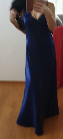 dlhe modre šaty, spoločenské šaty, LACNO - Obrázok č. 4