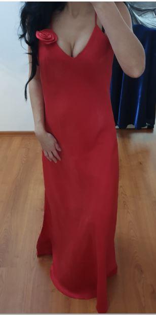 červene jednoduche šaty veľk. M, alebo S/M - Obrázok č. 1