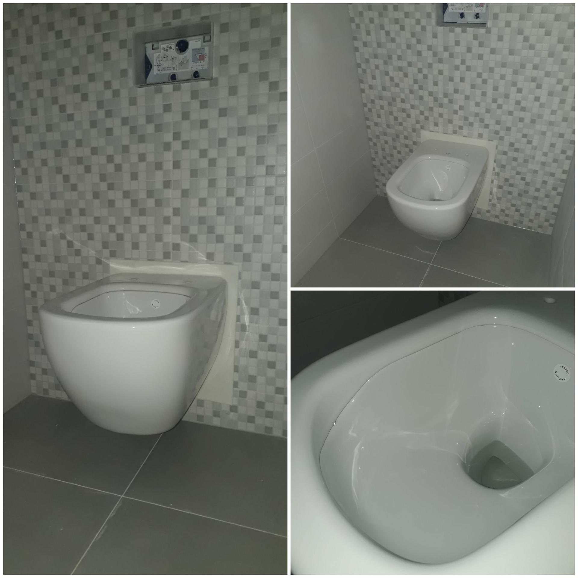 Koupelna přízemí - Tak je tam, chlapec 🙂. WC Ideal Standard Tesi AquaBlade