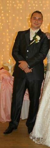 Slim svadobný oblek lesklý pásik 52/170 +košeľa/kr - Obrázok č. 2
