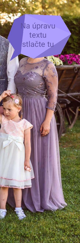 Prekrásne levandulové šaty s čipkou 38/40 - Obrázok č. 1