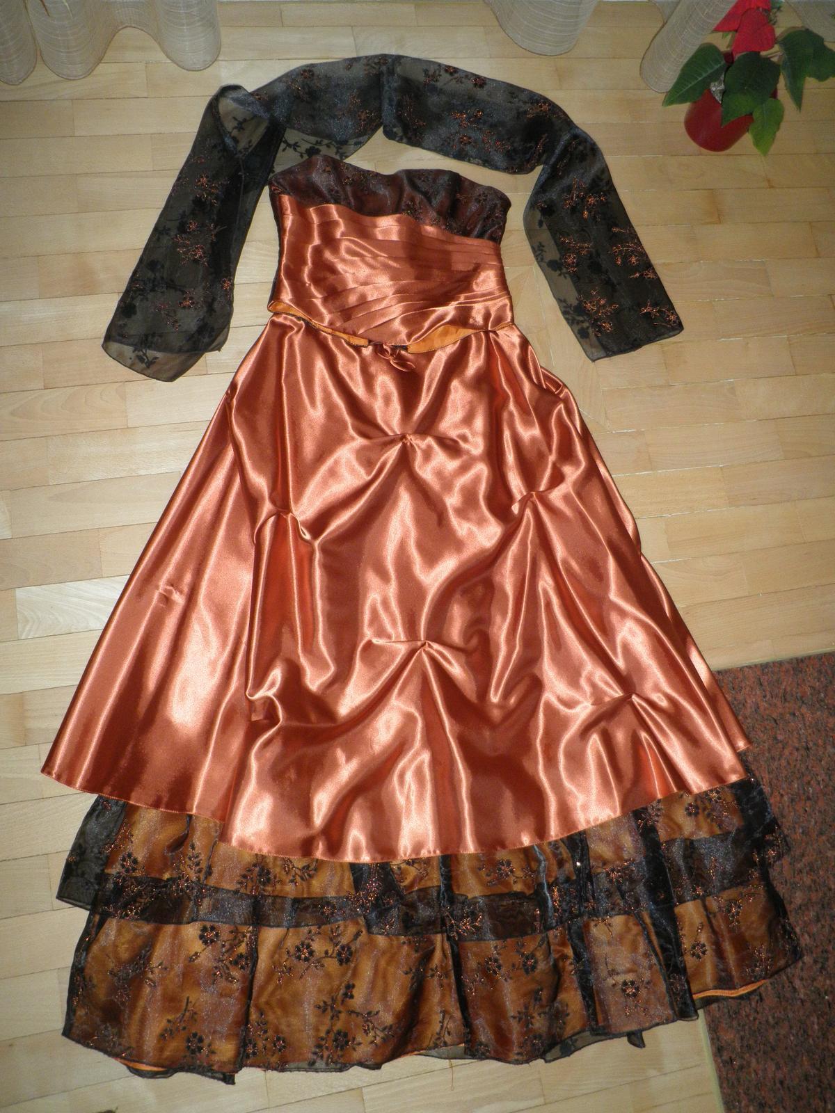 Plesové šaty+kabelka - Obrázok č. 1