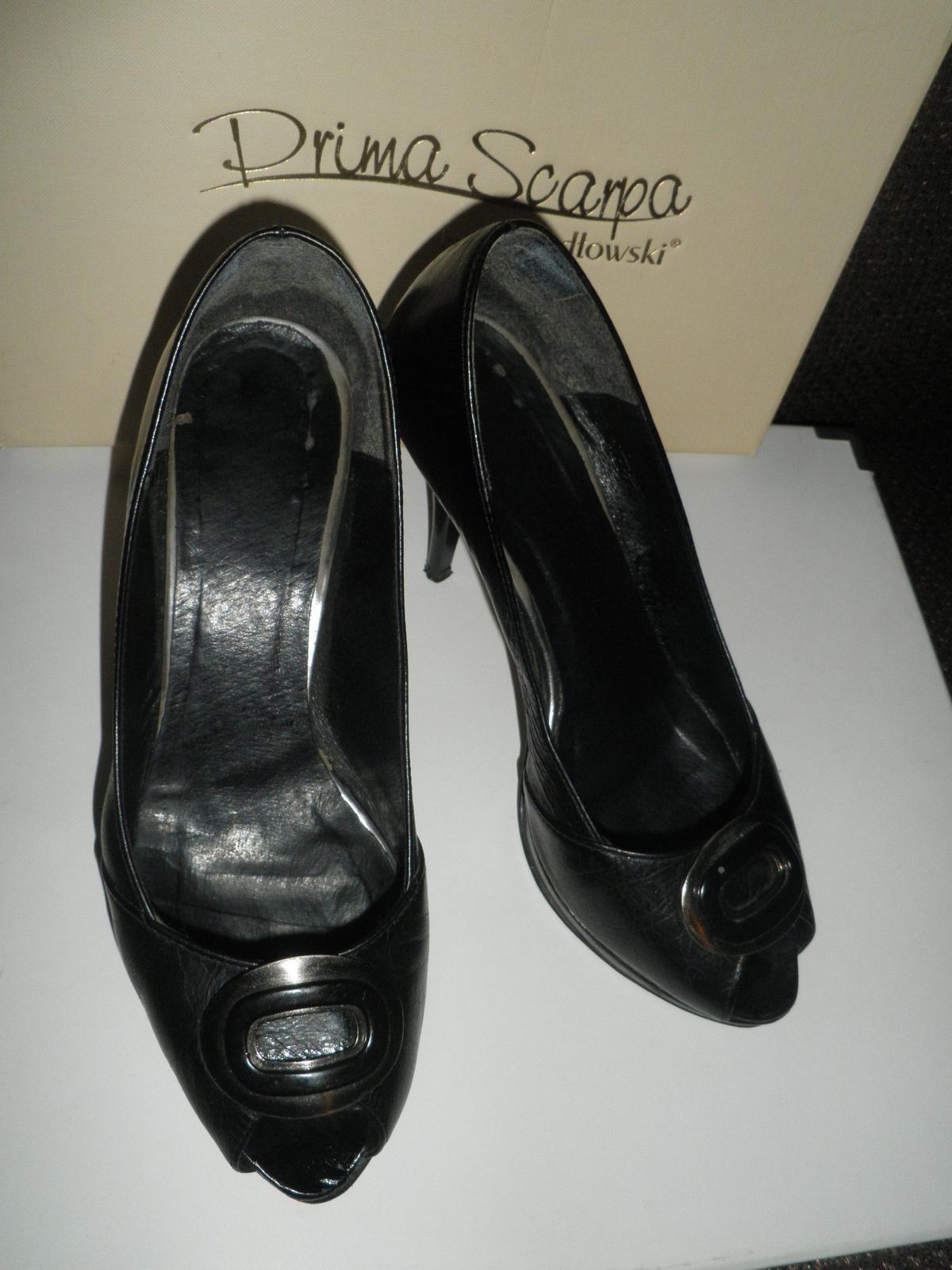 Lodičky koženné čierne+pošta - Obrázok č. 2