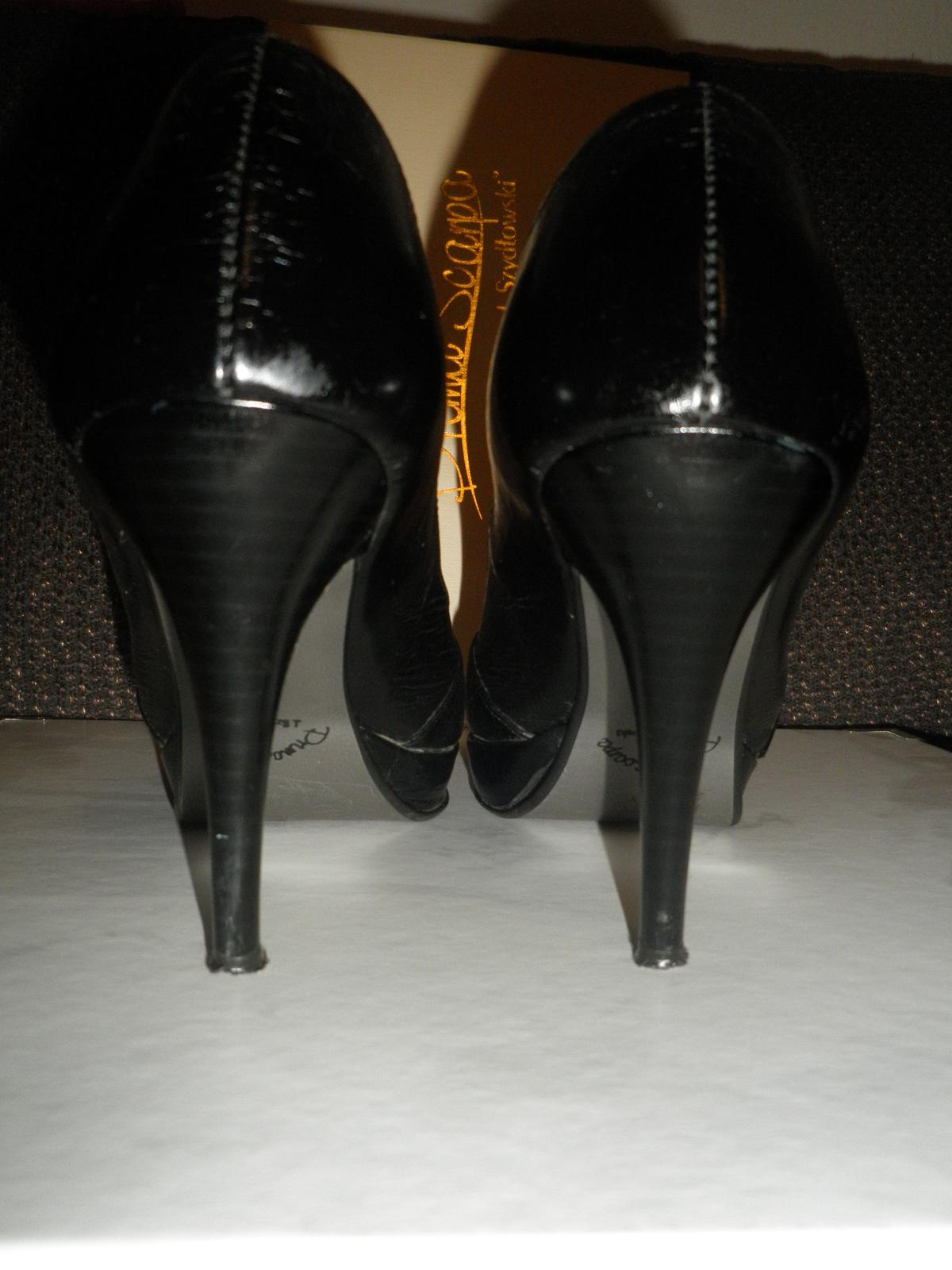 Lodičky koženné čierne+pošta - Obrázok č. 4