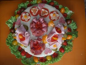 Zkouška slaného dortu  na svatbu