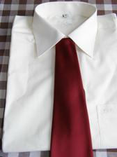 košile Šampaňo s kravatou