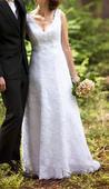 Svatební šaty celokrajkové , 36