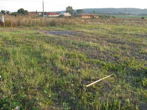 náš pozemok, kde chceme postaviť náš domček...