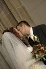 prvá manželská pusa :-)