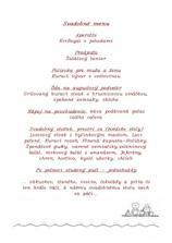 svadobné menu, aspoň hostia vedeli, na čo sa môžu tešiť :-)