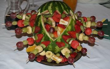 naaranžované ovocie ku čokoládovej fontáne :-)