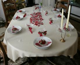 výzdoba stola v dome nevesty :-)
