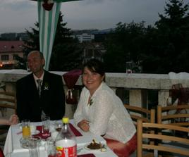 na vyzdobenej terase sa super sedelo :-)