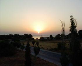 východ slnka nad Tureckým pobrežím, výhľad z nášho balkóna :-)