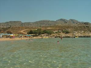videli sme množstvo krásnych pláží, pláž Agathi s priezračnou vodou