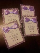Kartičky pro drůžičky - hotovo! :-)