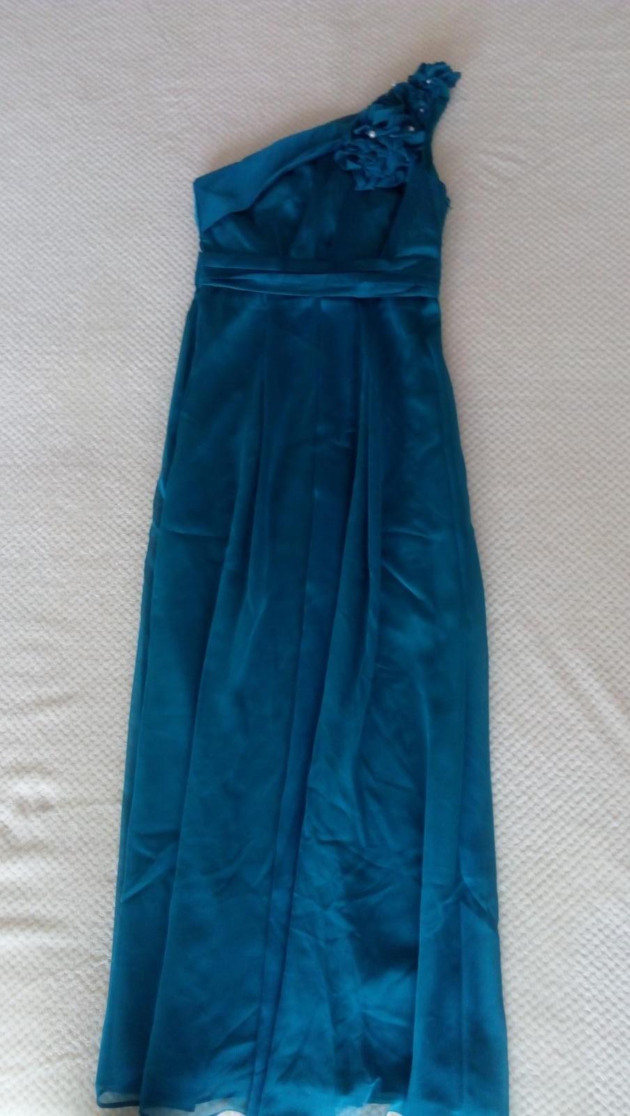 tyrkysové šaty, dlhé - Obrázok č. 2