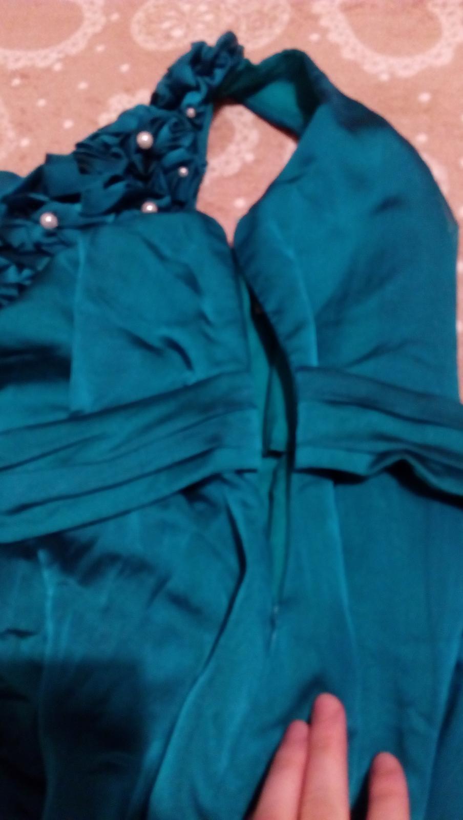 tyrkysové šaty, dlhé - Obrázok č. 4