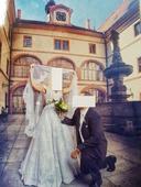 Svatební šaty z Francouzké krajky pc 35000,-, 36