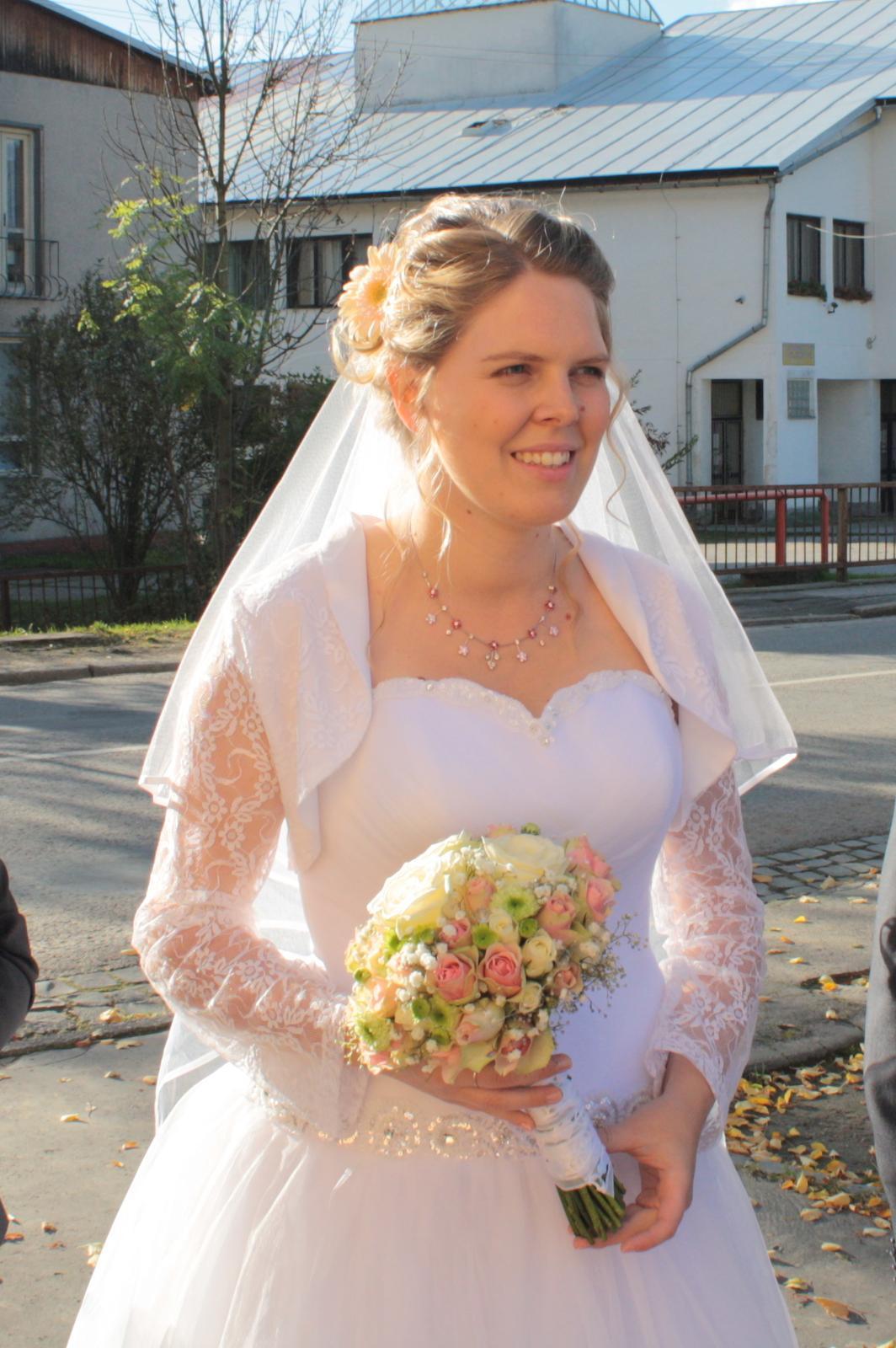 Svadobné šaty tylové, princeznovské - veľkosť42-46 - Obrázok č. 1