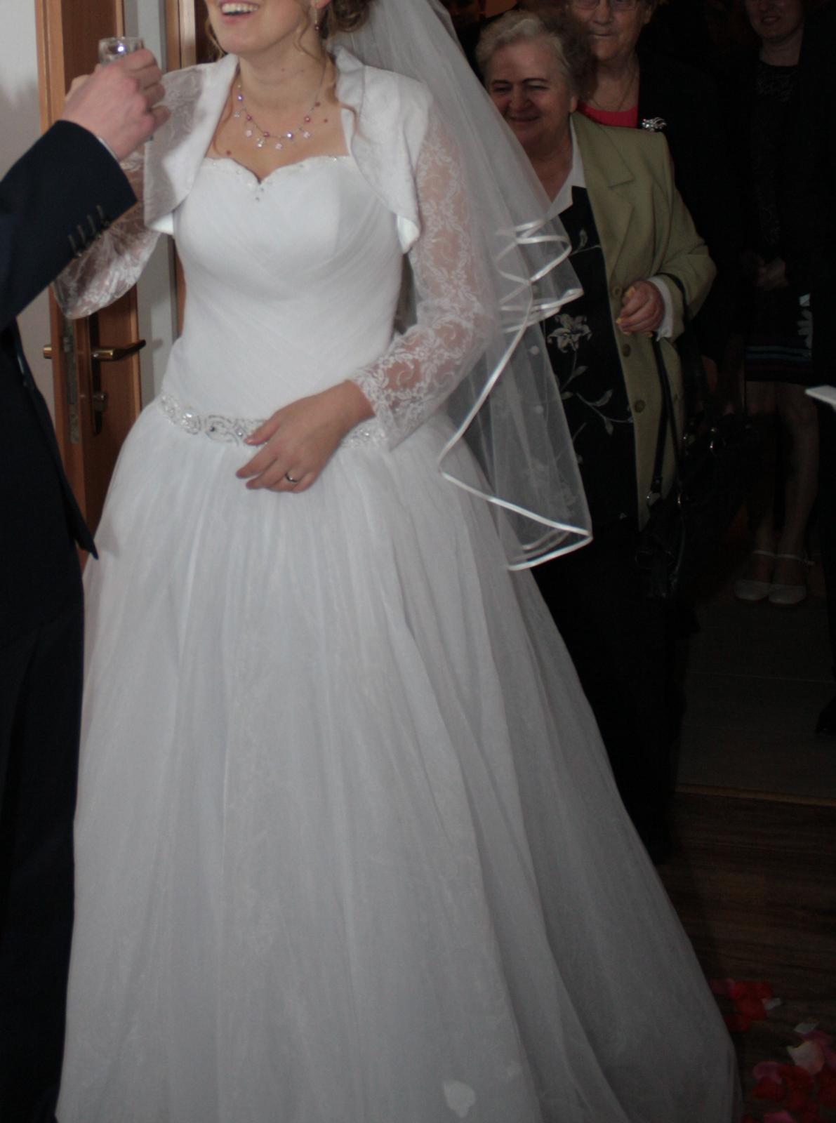 Svadobné šaty tylové, princeznovské - veľkosť42-46 - Obrázok č. 4