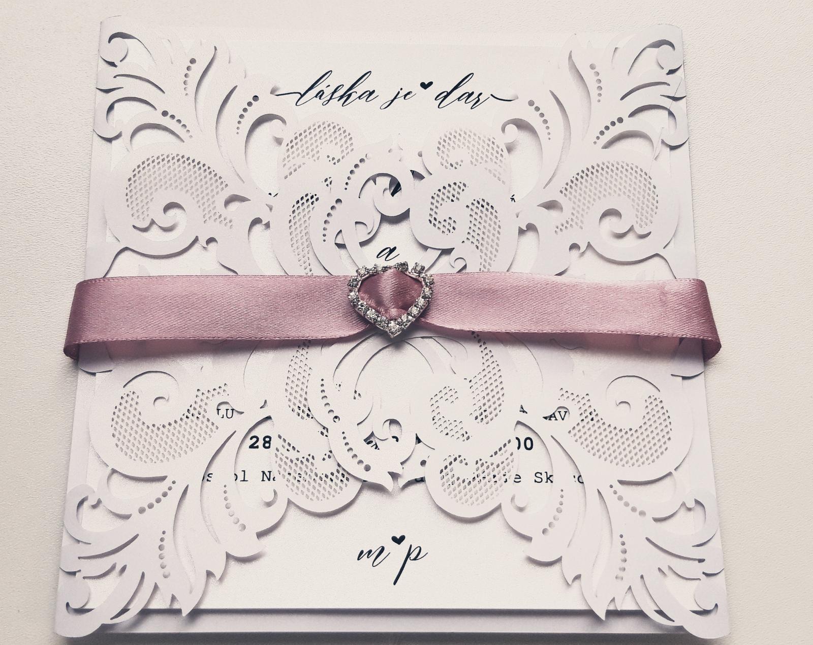 M∞P wedding ideas - svadobné oznámenie