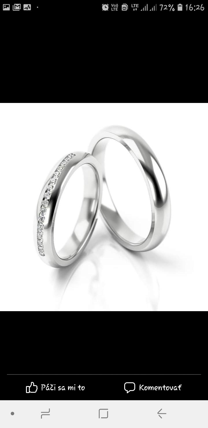 M∞P wedding ideas - rada by som nosila obrúčku spolu so snubným prsteňom, preto bude tenšia