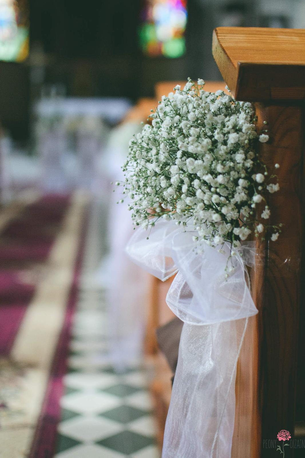 M∞P wedding ideas - takto si predstavujem výzdobu kostola