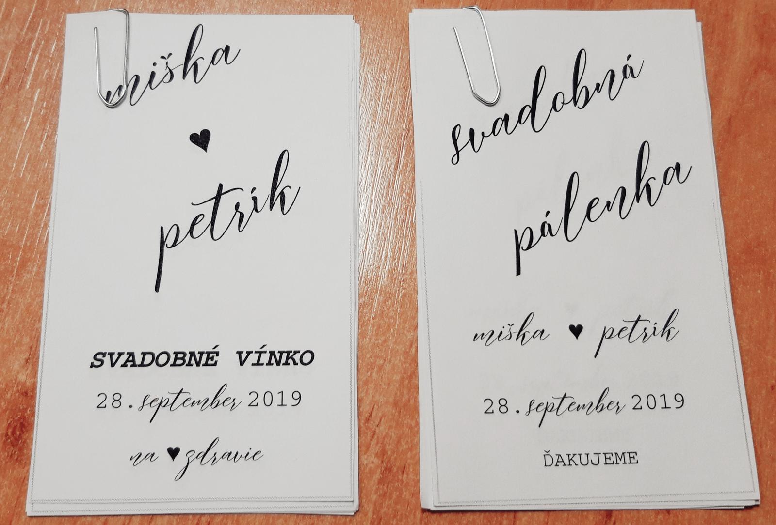 M∞P wedding ideas - návrh na etikety, mám rada jednoduché, som taký minimalista