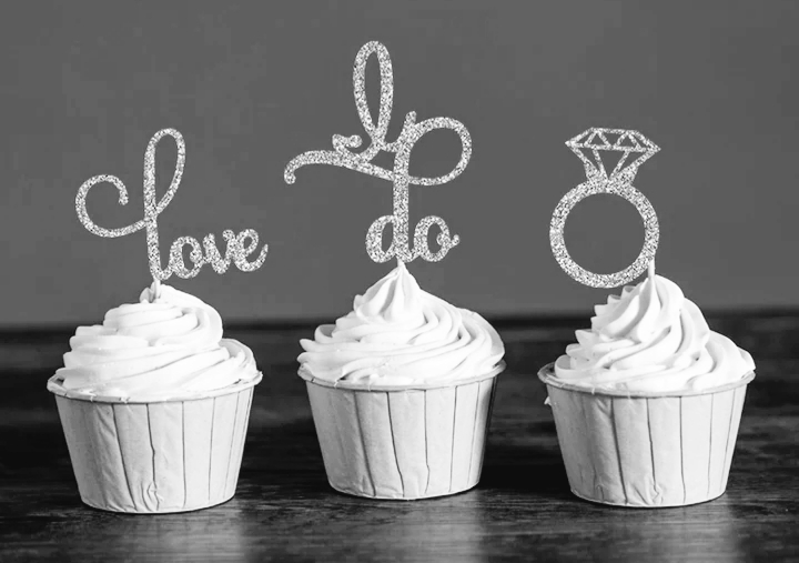 M∞P wedding ideas - ozdoby na cupcakes