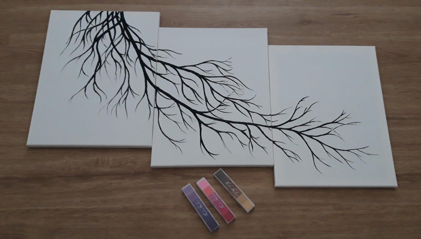 M∞P wedding ideas - na odtlačky prstov hostí, nechcela som strom, skôr niečo takéto, čo si zavesím na chodbu