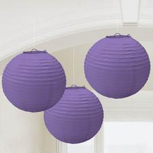 lampiony na výzdobu, různé odstíny a velikosti