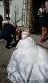 Svatební šaty XS, S a M+ spodnice a závoj zdarma , 36