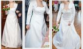 Saténové svatební šaty vel.38-40, 40