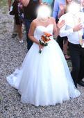 Svatební šaty s krajkou vel. 40-44, 40