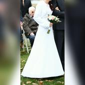 bílé svatební šaty , 36