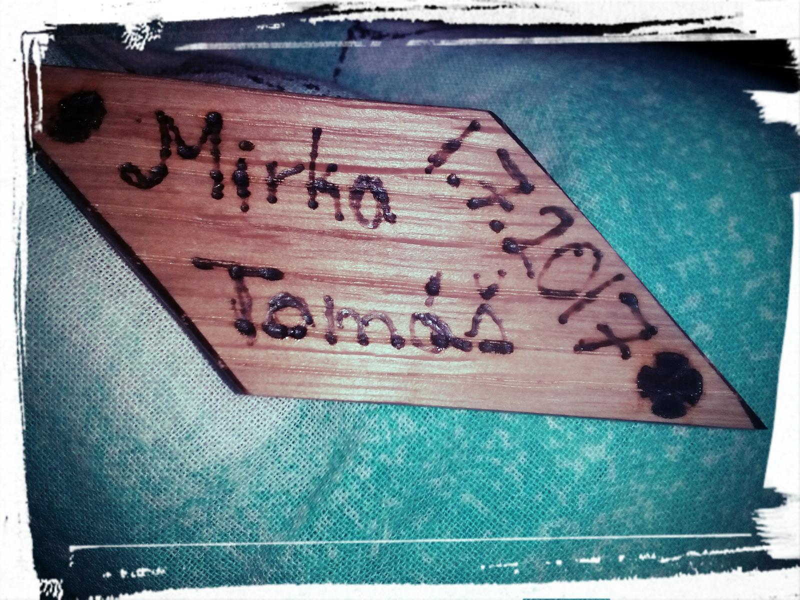 náš handmade darček pre hostí :) každý vyzerá ináč :) každý je originál :) - Obrázok č. 1
