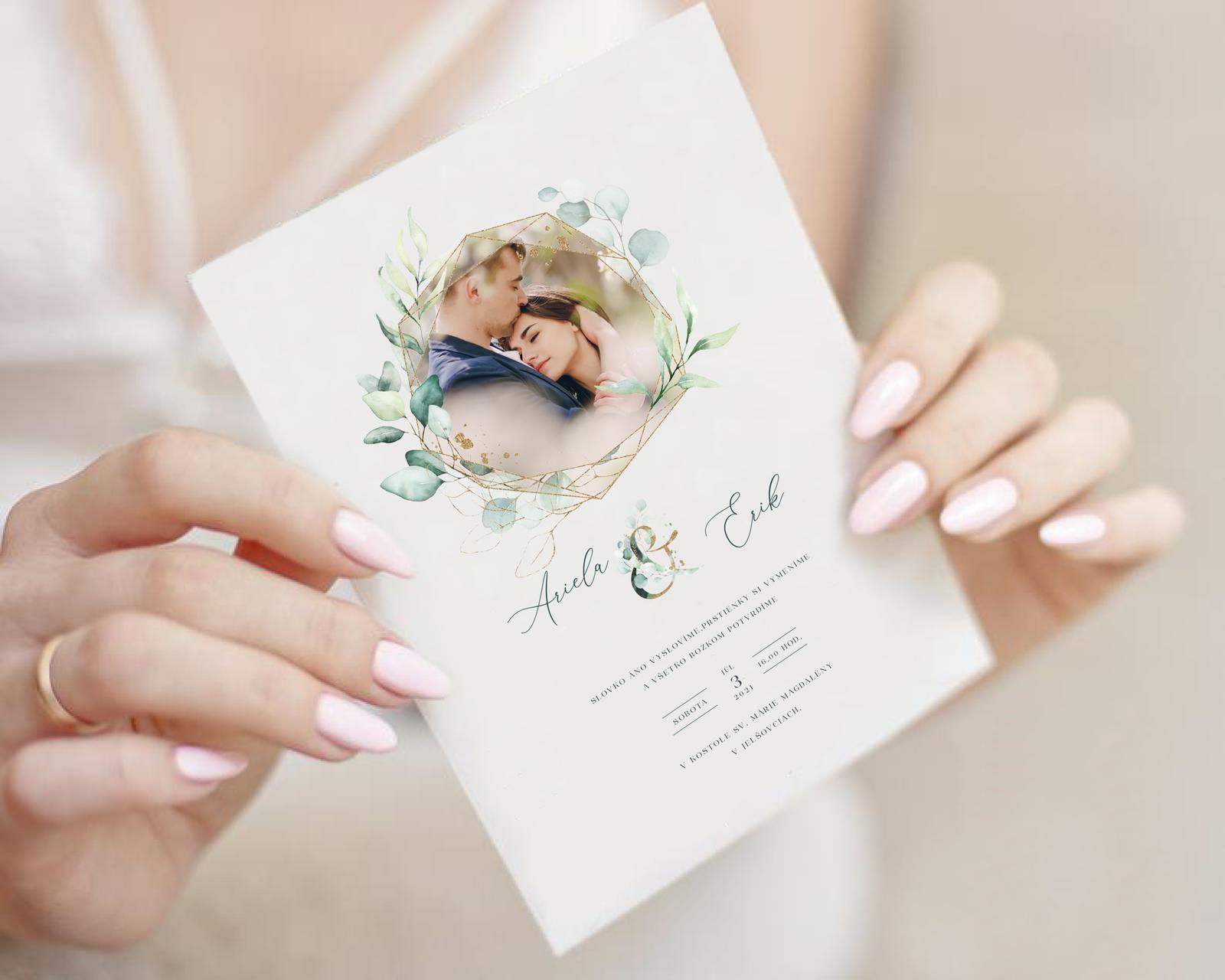 Boho Greenery svadobné oznámenia - Obrázok č. 2