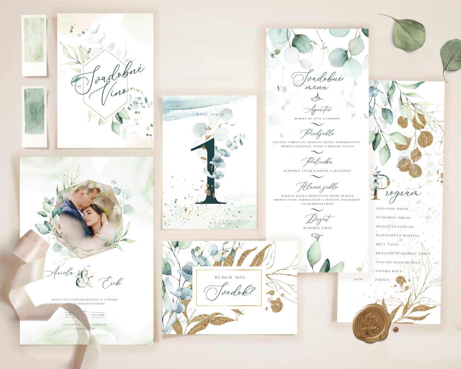 Boho Greenery svadobné oznámenia - Obrázok č. 3
