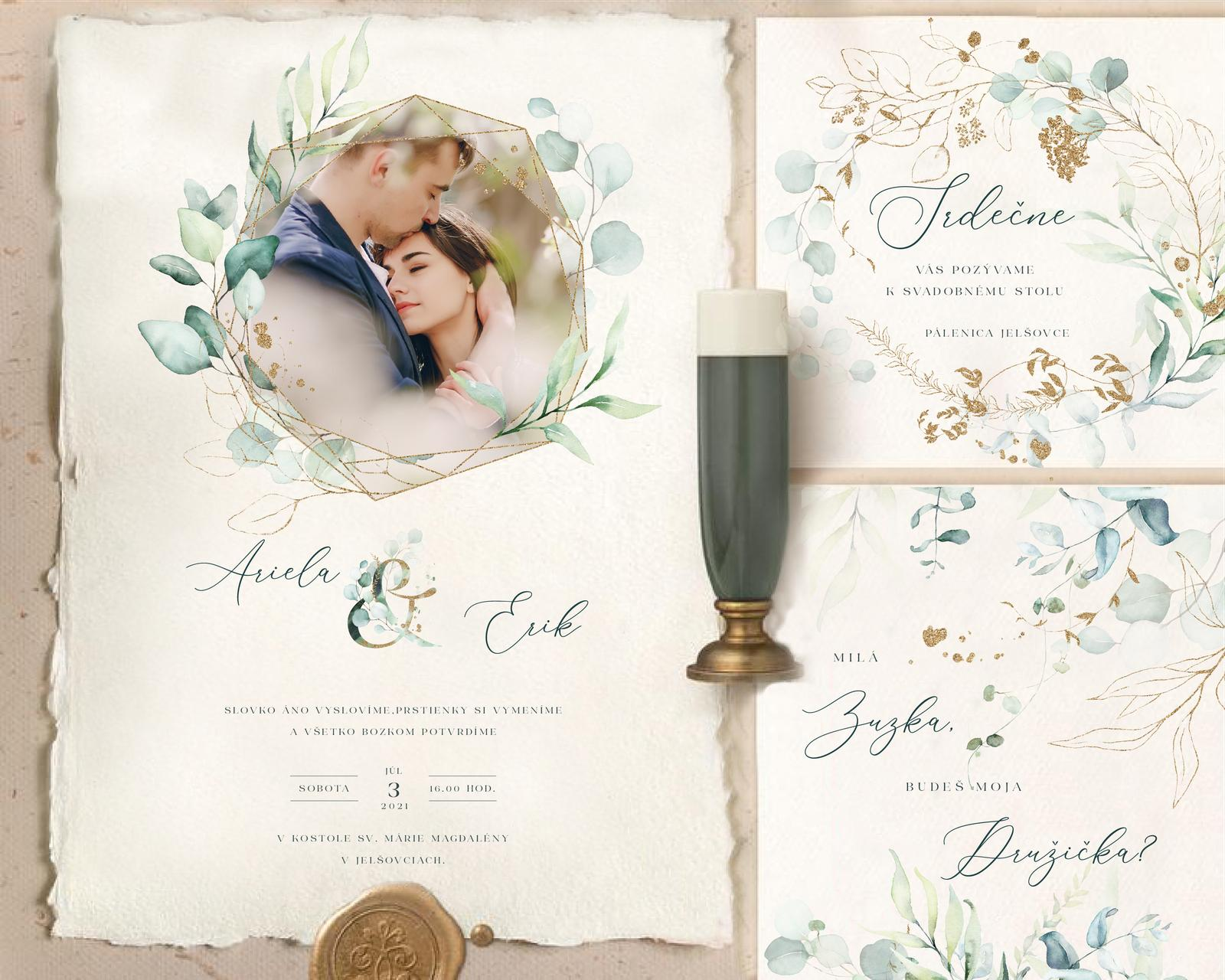 Boho Greenery svadobné oznámenia - Obrázok č. 1