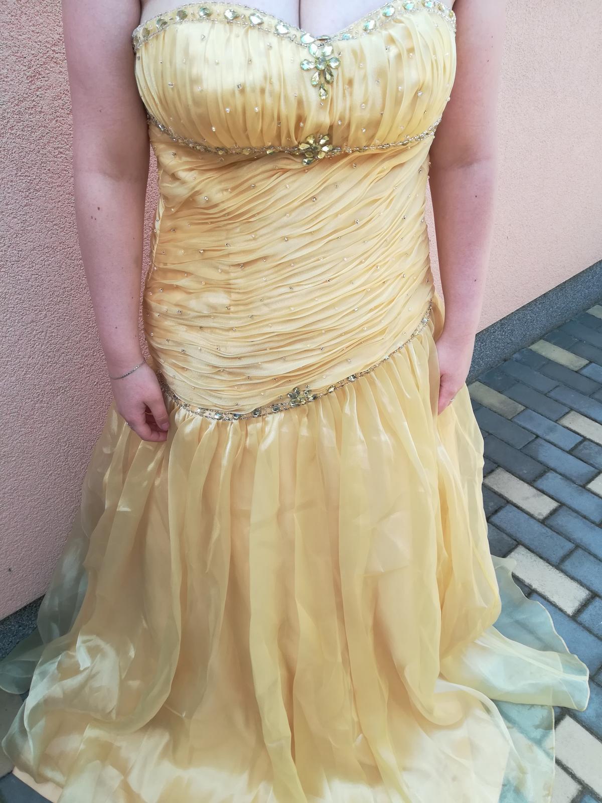Žluté společenské šaty - Obrázek č. 1