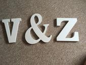Dřevěná písmena V&Z,