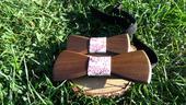 Pánský a dětský dřevěný motýlek ,