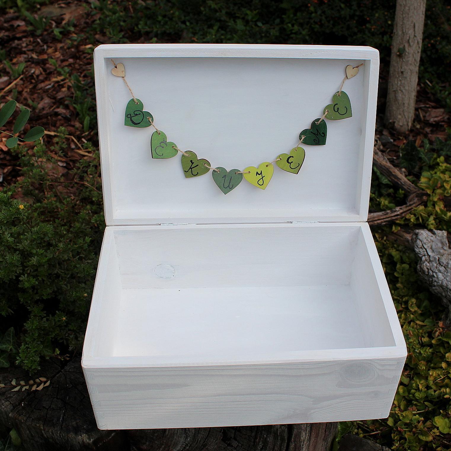 Svatební krabička LÍSTEČKOVÁ DĚKUJEME - Obrázek č. 2