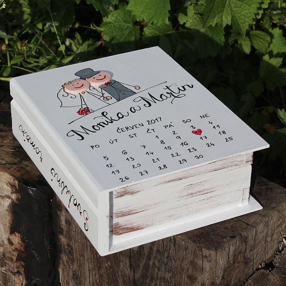 Svatební dřevěná kniha PAN A PANÍ - Obrázek č. 1