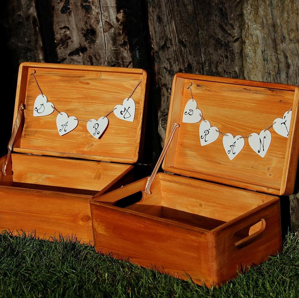 Dřevěná krabička na DARY či PŘÁNÍ - Obrázek č. 1