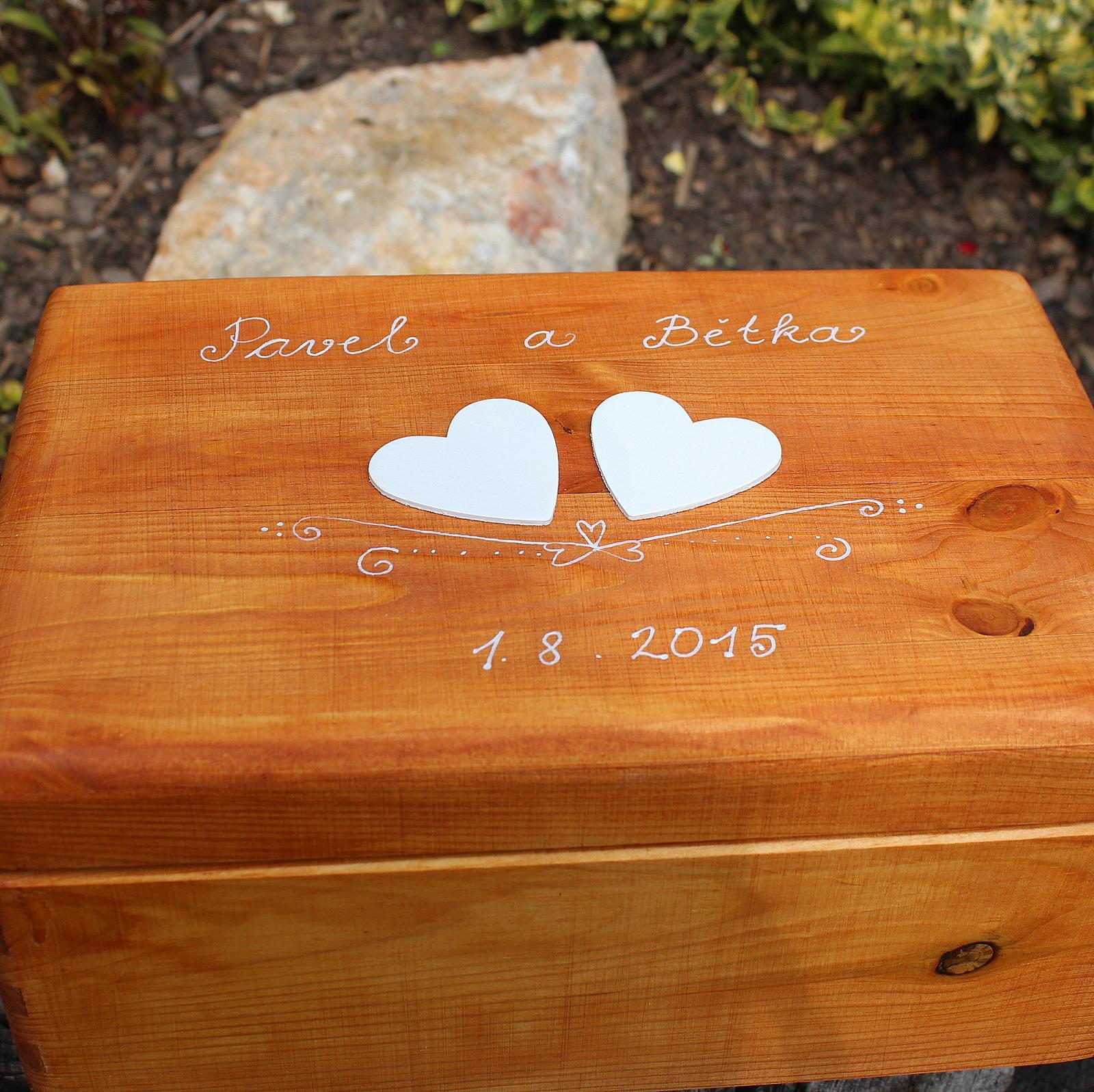 Dřevěná krabička na DARY či PŘÁNÍ - Obrázek č. 2