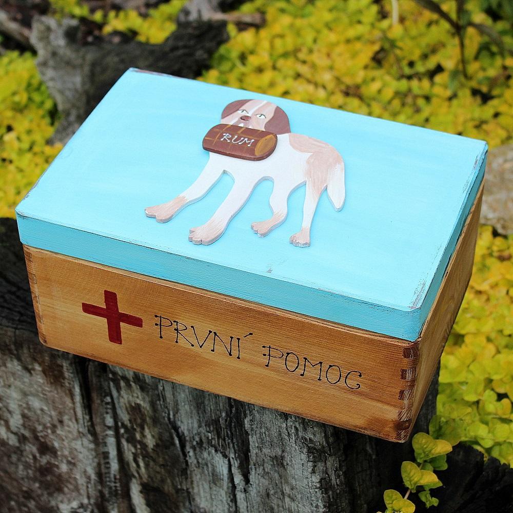 Dřevěná krabice první pomoci - Obrázek č. 1