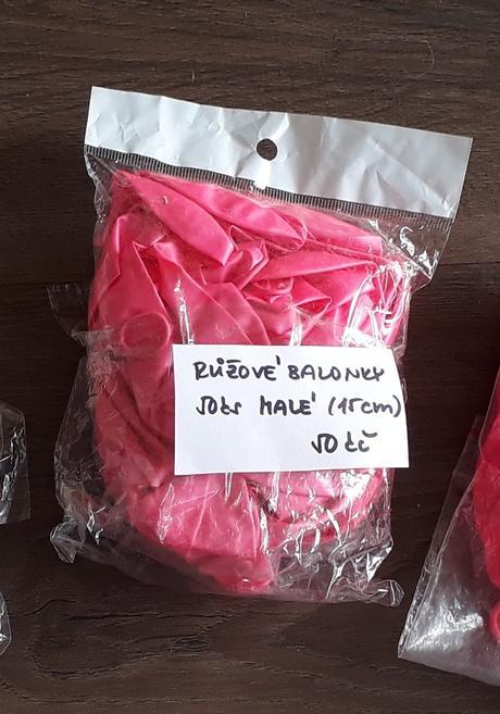 Růžové balonky - Obrázek č. 1